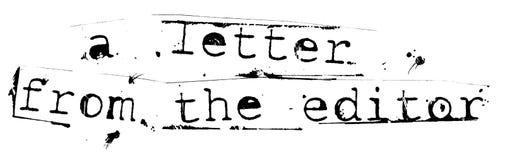 Une lettre de l'éditeur Images stock