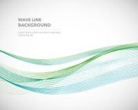 Une ligne abstraite élégante calibre futuriste de vague de vecteur de fond de style illustration libre de droits
