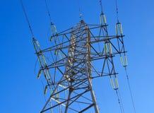 Une ligne de transport d'énergie Photos libres de droits