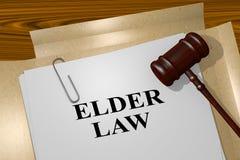 Une loi plus ancienne - concept juridique illustration stock