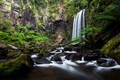 Une longue photo d'exposition des automnes de Hopetoun situés dans Beechforest Images stock