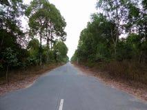 Une longue route de campagne vide au Vietnam Photographie stock