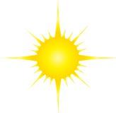 Une lumière du soleil Photo stock
