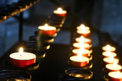 Une lumière pour les morts Images stock