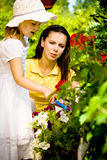 Une mère avec son jeune descendant photos stock
