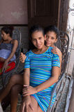 Une mère célibataire Photo libre de droits