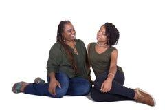Une mère et sa fille adolescente Images stock