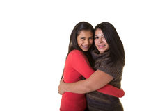 Une mère et sa fille adolescente Photo stock