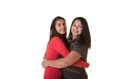 Une mère et sa fille adolescente Image libre de droits