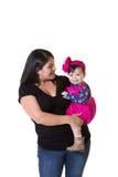 Une mère et sa fille de bébé Image libre de droits