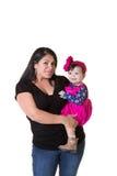Une mère et sa fille de bébé Photos stock