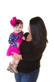 Une mère et sa fille de bébé Photographie stock libre de droits