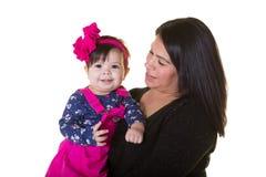 Une mère et sa fille de bébé Images stock