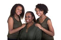 Une mère et ses 2 filles Images libres de droits