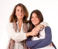 Une mère et son descendant de l'adolescence Images stock