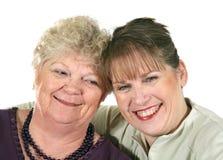 Une mère et un descendant plus âgés Photo stock