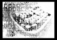 Une machine à écrire imprimée illustration libre de droits