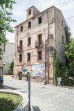 Une maison abandonn?e sans fen?tres Oliena, province de Nuoro, Sardaigne, Italie image libre de droits