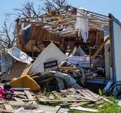 Une maison détruite dans l'ouragan puissant Harvey sur Texas Coast photographie stock libre de droits
