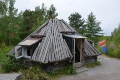 Une maison de camp de Sami photos stock