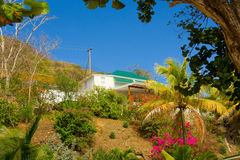 Une maison de location à la plage d'amitié, Bequia Photo libre de droits