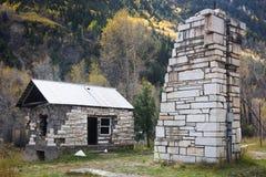 Une maison de marbre dans la ville du marbre dans le Colorado images stock