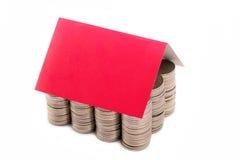 Une maison de pièces de monnaie Images stock