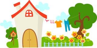 Une maison mignonne Image libre de droits