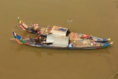 Une maison sur un bateau Photo libre de droits