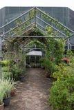 Une maison verte Photographie stock