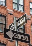 Une manière signe dedans New York Image stock