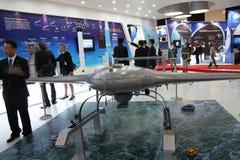 Une maquette d'UAV KUS-9 coréen Image libre de droits