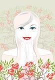 Une mariée heureuse Illustration de Vecteur