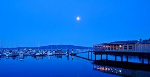 Une marina et un restaurant Photographie stock