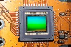 Une matrice sensible de l'appareil-photo numérique de photo Photographie stock