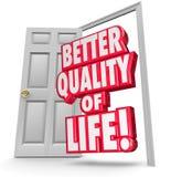 Une meilleure qualité de vie améliorent la porte ouverte de situation Images libres de droits