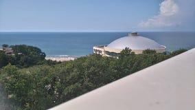 Une mer luttent du balcon Photos libres de droits