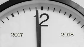Une minute au minuit et à la nouvelle année Photos libres de droits