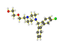 Une molécule d'atarax Image stock