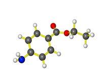 Une molécule de benzocaine Photos stock