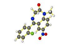 Une molécule de rohypnol Photographie stock libre de droits