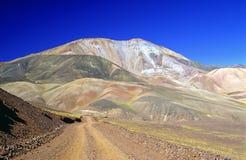 Une montagne aiment une palette de couleur Images stock