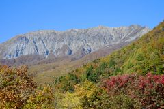Une montagne célèbre Daisen en préfecture de Tottori au Japon Image stock