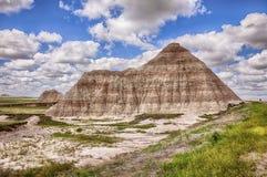 Une montagne dans les bad-lands Photographie stock
