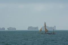 Une navigation de yacht sur la Manche Photographie stock