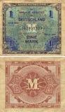 Une note allemande 1944 de mark Images stock