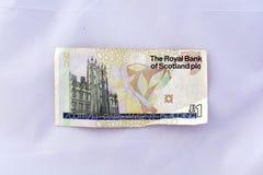 Une note de livre (devise sterling) Photographie stock libre de droits