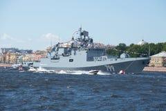 Une nouvelle frégate du ` d'amiral Makarov de ` de flotte de la Mer Noire Images stock