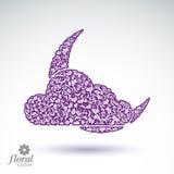 Une nouvelle lune derrière une belle illustration d'art de nuage, lul floral Image stock
