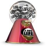 Une nouvelle machine de Gumball de la vie recommencent pour commencer encore Opportun frais Images stock